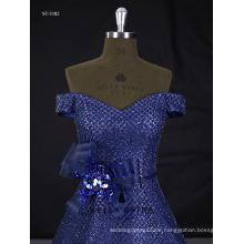 Wulst glänzend Pailletten Abendkleid 2017 Guangzhou Frauen Partei Kleid Fabrik Direktverkauf