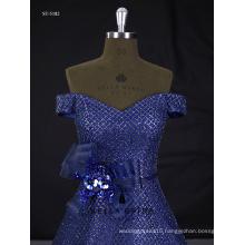 Beaded shiny sequins evening dress 2017 guangzhou women party dress factory direct sale