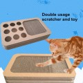 Cardboard cat toy box with holes