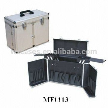 aluminum barber tool case with 2 trays inside