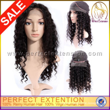 120 Density Marilyn Remy Gold Hair Afro Front Curly Lace Wig