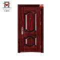 Puerta exterior del metal del modelo de la casa del último diseño directo de la fábrica de PHIPULO, precio de la puerta del acero de la seguridad
