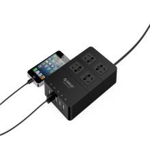 Chrismas ORICO HPC-4A5U 4 tomada elétrica com 5 USB HUB