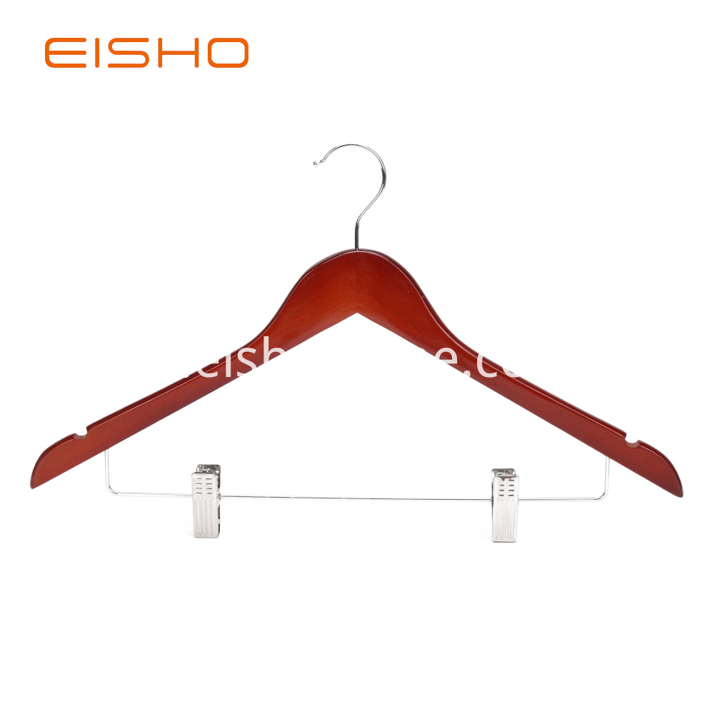 Ewh0052 Wooden Hangers With Clips