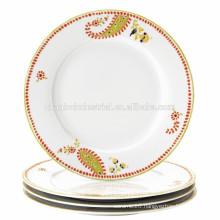 10.5 inch OEM factory directly cheap bulk ceramic dinner plate