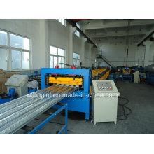 Máquina perfiladora de paneles de plataforma de almacenamiento de acero Ce