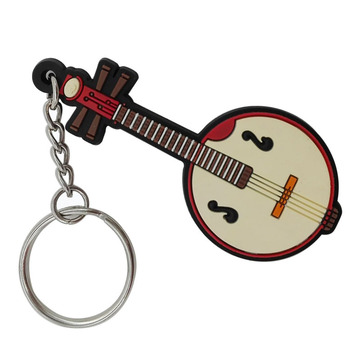Music Themed Novelty PVC Music Llaveros