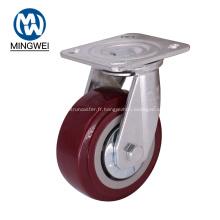 Roulette pivotante à plaque pivotante robuste de 5 pouces