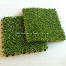 WPC Decking Tiles Accesorio Artificial Grass Tiles 30s30-Agt Estilo de enclavamiento