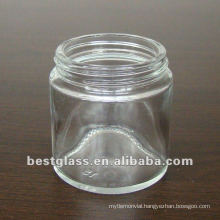 clear glass cosmetic jar of 80g and you can choose the cap