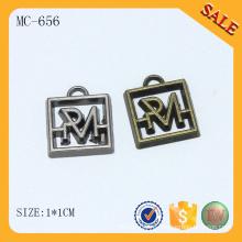 MC656 изготовленный на заказ гравированный металлический логотип бисер