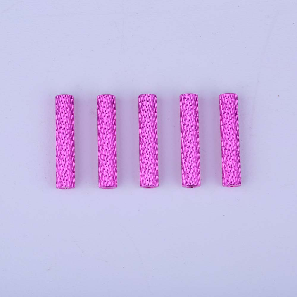 m3 threaded knurled round spacers