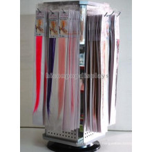 Hair Products Instore Wholesale Rotating Counter Top Pegboard 4-Way Extension Hair Wig Display Stand