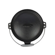 4.5qt Pre-Seasoned Cast Iron Camping Dutch Oven with 3 Legs