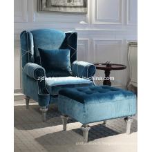 Style post-moderne salon Sofa de loisirs en bois tissu définie (LS-116-1 & LS-116-2)