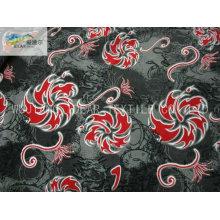 125D*100D Printed Polyester Plain Single Spray Peach Skin Fabric