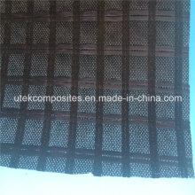 Grelha de reforço de poliéster com suporte de geotextil não tecido