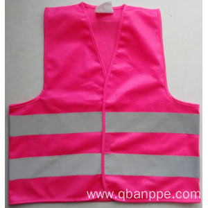 Pink reflective safety vest for children