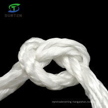 Durable 3 Strand Twisted/Twist White PP/Polypropylene Splitfilm/Split Film Rope for Agriculture Packing