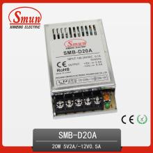 20W 5V2a 12V0.5A Ultra-Thin Dual fuente de alimentación Swtiching de salida