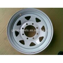 Pièces de remorque Oem 15x6, Jante de roue en acier inoxydable durable 15x5,15x6