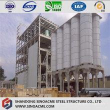Stahlrahmen-Struktur für industrielle Aufbereitungsanlage
