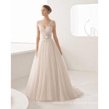 A Line Sash Ladies Women Bridal Wedding Dress (RS009)