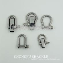 Aço inoxidável D anel manilha arco para vendas