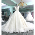 Sexy backless v-neck shining wedding dress bridal gown 2017 DY031