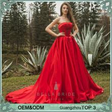 Noble Frauen Kleider Partei lange Hochzeit Abendkleid roten Brautkleid Braut Partei Kleider lange Kittel