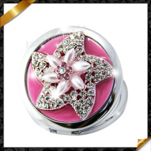 Espejo de bolsillo de Protable, pavimenta el espejo compacto de la perla cristalina, nuevo espejo del estilo ¡Caliente! ! (MW020)