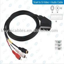 Câble adaptateur scart to rca pour le raccordement de lecteurs de DVD, boîtes satellite et câbles, LCD, projecteurs, écrans plasma
