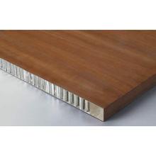 Paneles de nido de abeja de aluminio de imitación de madera para decoración interna y externa