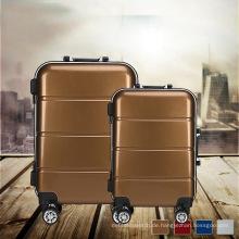 Aluminium Metall Koffer Trolley Gepäck mit gestreiften Kofferraum