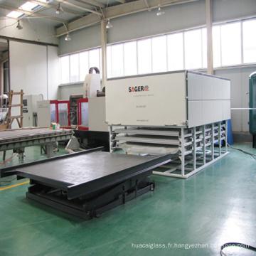 Machine de stratification de verre à rendement élevé