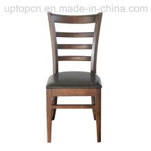 Ресторан кожаное кресло обеденный стул древесины (СП-EC162)