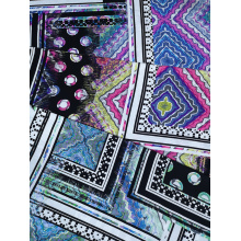 Ethnic Joint Rayon Challis 30S Air-jet Printing Fabric