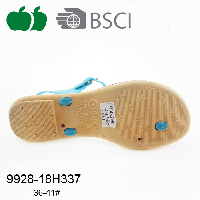 ladies fashion plastic sandals