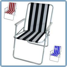 cadeira de praia dobrável com tecido 600D oxford e estrutura de aço