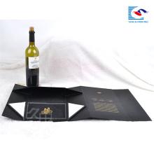Atacado Luxo personalizado cartão dobrável caixa de presente magnética embalagem vinho