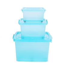 Plastic Crystal Storage Box with Wheels (SLSN060)