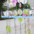 80CM Tall PVC Circle Pendant Chandelier With Metal Chain