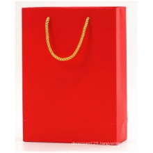 Small Red Gift Garment Paper Bag, Bag with Cotton Handle