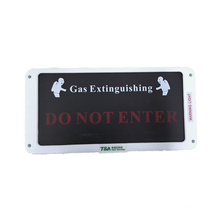 Indicador de alerta para sistema de extinção de gás