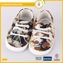 2015 newest hot sale high quality baby kids camuflage shoes