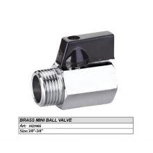 3/4 '' Mini polido e cromado forjado latão válvula de esfera do corpo