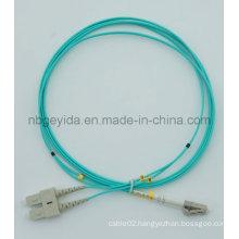 2.0 Sc-LC Om3 Duplex Fiber Optic Patch Cord