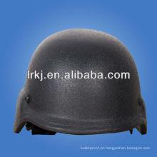 capacete de prova de bala de aramida de polícia