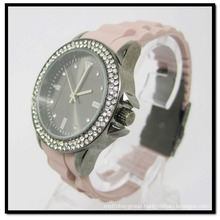 New Arrived Silicon Crystal Watches Alloy Case Silicone Band Watch