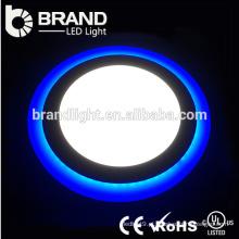 Alta qualidade 6 + 3W duplo cor luz do painel LED, luz do painel LED azul e branco
